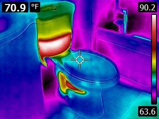 Infrared Hot Toilet