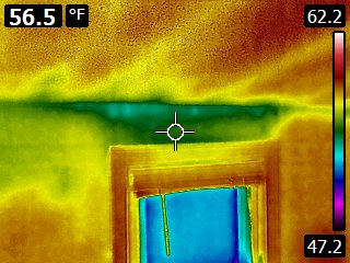 Infrared Image Roof Leak